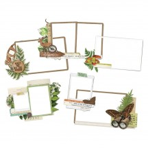Simple Stories Simple Vintage Great Escape Chipboard Frames 13220