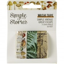 Simple Stories Simple Vintage Great Escape Washi Tape 3 Roll Pack 13221