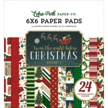 "Echo Park Twas The Night Before Christmas 6""x6"" Double-Sided Paper Pad 24 Sheets TNC134023"