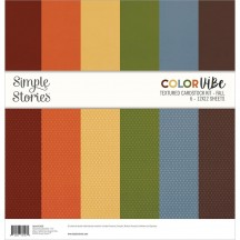 "Simple Stories Color Vibe Fall 12""x12"" Textured Cardstock Kit 13450"