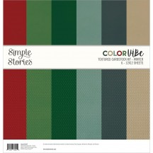 "Simple Stories Color Vibe Winter 12""x12"" Textured Cardstock Kit 13457"
