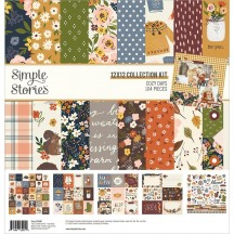 """Simple Stories Cozy Days 12""""x12"""" Collection Kit 13500"""