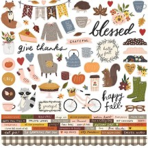 "Simple Stories Cozy Days 12""x12"" Cardstock Stickers 13501"