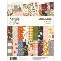 "Simple Stories Cozy Days 6""x8"" Double-Sided Paper Pad 13514"