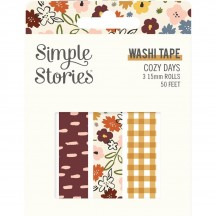 Simple Stories Cozy Days Washi Tape 3 Roll Pack 13524