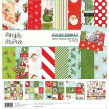 "Simple Stories Simple Vintage North Pole 12""x12"" Collection Kit 13600"
