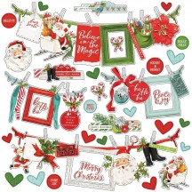 "Simple Stories Simple Vintage North Pole 12""x12"" Banner Cardstock Stickers 13602"