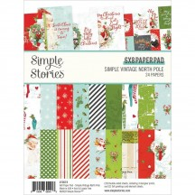 "Simple Stories Simple Vintage North Pole 6""x8"" Double-Sided Paper Pad 13619"