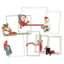 Simple Stories Simple Vintage North Pole Chipboard Frames 13624
