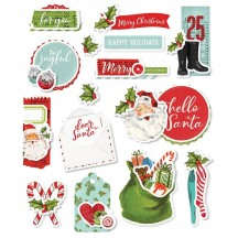 Simple Stories Simple Vintage North Pole Layered Stickers 13627