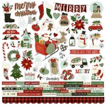 "Simple Stories Christmas Jingle all the Way 12""x12"" Cardstock Stickers 13701"