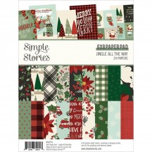 "Simple Stories Christmas Jingle all the Way 6""x8"" Double-Sided Paper Pad 13714"