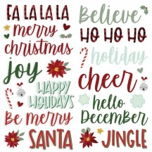 Simple Stories Jingle all the Way Christmas Foam Phrase Stickers 13721