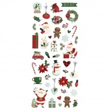 Simple Stories Jingle all the Way Christmas Puffy Stickers 13722