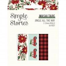 Simple Stories Jingle all the Way Christmas Washi Tape 3 Roll Pack 13725