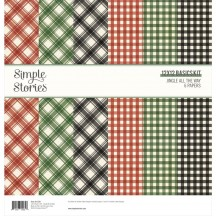 "Simple Stories Jingle all the Way Christmas 12""x12"" Basics Kit 13729"