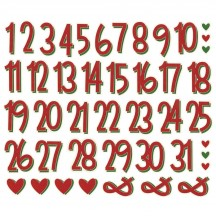 Simple Stories Jingle all the Way Christmas Numbers Bits & Pieces Die-Cut Cardstock Ephemera 13734