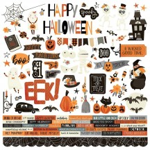 "Simple Stories Boo Crew Halloween 12""x12"" Cardstock Stickers 13801"