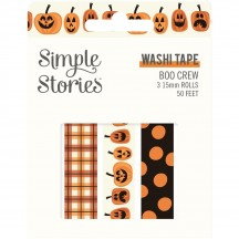 Simple Stories Boo Crew Halloween Washi Tape 3 Roll Pack 13819