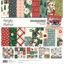 "Simple Stories Winter Cottage 12""x12"" Collection Kit 13900"