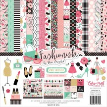 "Echo Park Fashionista 12""x12"" Collection Kit FA139016"