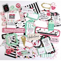 Echo Park Fashionista Tags & Frame Ephemera Die Cut Cardstock Pieces FA139021