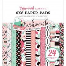 "Echo Park Fashionista 6""x6"" Double-Sided Paper Pad 24 Sheets FA139023"