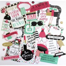 Echo Park Fashionista Ephemera Die Cut Cardstock Pieces FA139024