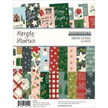 "Simple Stories Winter Cottage 6""x8"" Double-Sided Paper Pad 13914"