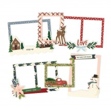 Simple Stories Winter Cottage Christmas Chipboard Frames 13919