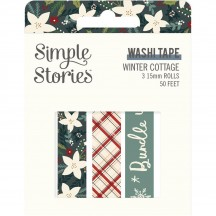 Simple Stories Winter Cottage Washi Tape 3 Roll Pack 13924