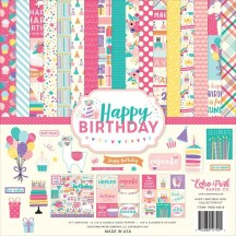 "Echo Park Happy Birthday Girl 12""x12"" Collection Kit HBG140016"