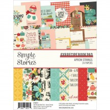 "Simple Stories Apron Strings 6""x8"" Recipe Book Paper Pad 14014"