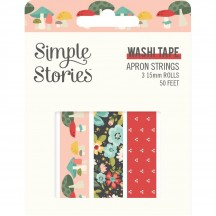 Simple Stories Apron Strings Washi Tape 3 Roll Pack 14020