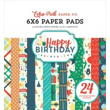 "Echo Park Happy Birthday Boy 6""x6"" Double-Sided Paper Pad 24 Sheets HBB141023"