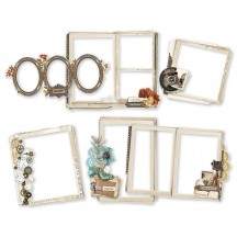 Simple Stories Simple Vintage Ancestry Chipboard Frames 14125