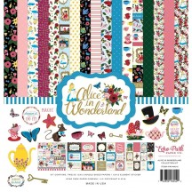 """Echo Park Alice In Wonderland 12""""x12"""" Collection Kit AIW14816"""