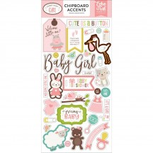 Echo Park Sweet Baby Girl Self Adhesive Chipboard Shape Stickers SBG142021