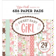 "Echo Park Sweet Baby Girl 6""x6"" Double-Sided Paper Pad 24 Sheets SBG142023"