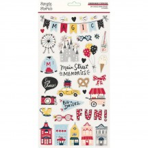 Simple Stories Say Cheese Main Street Self Adhesive Chipboard Shape Stickers 14215