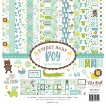 "Echo Park Sweet Baby Boy 12""x12"" Collection Kit SBB143016"