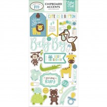 Echo Park Sweet Baby Boy Self Adhesive Chipboard Shape Stickers SBB143021