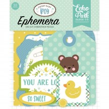 Echo Park Sweet Baby Boy Ephemera Die Cut Cardstock Pieces SBB143024