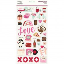 Simple Stories Sweet Talk Self Adhesive Chipboard Shape Stickers 14315