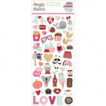 Simple Stories Sweet Talk Puffy Stickers 14320