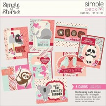 Simple Stories Sweet Talk Lots of Love Card Kit 14328