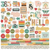 "Simple Stories Hello Today 12""x12"" Cardstock Stickers 14401"