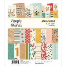 "Simple Stories Hello Today 6""x8"" Double-Sided Paper Pad 14414"
