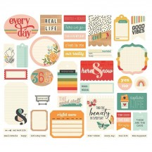 Simple Stories Hello Today Journal Bits & Pieces Die-Cut Cardstock Ephemera 14417