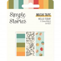 Simple Stories Hello Today Washi Tape 3 Roll Pack 14424